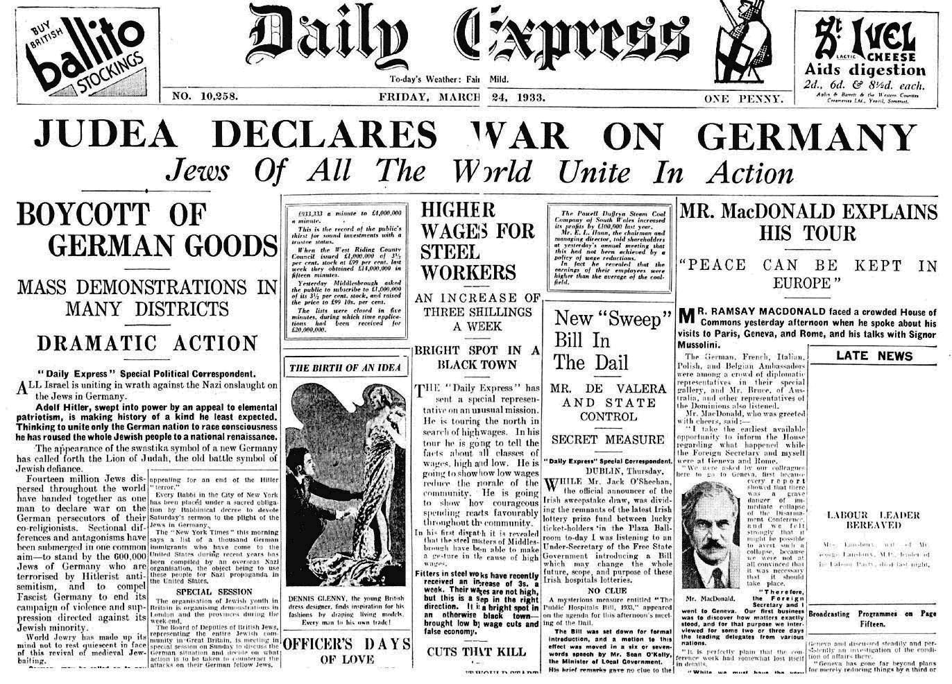 Resultado de imagen para alemania declara la guerra al sionismo