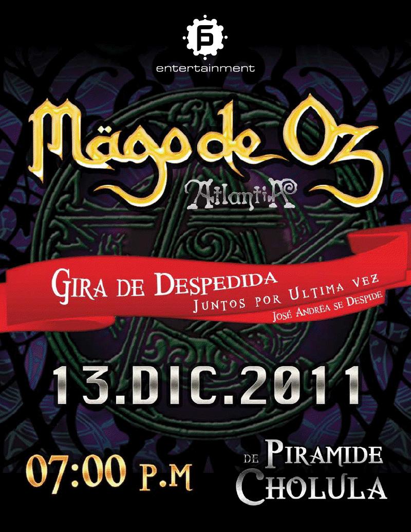 MAGO DE OZ GIRA NOVIEMBRE-DICIEMBRE 2011 (FRECUENCIA 11-11-11 EN ...