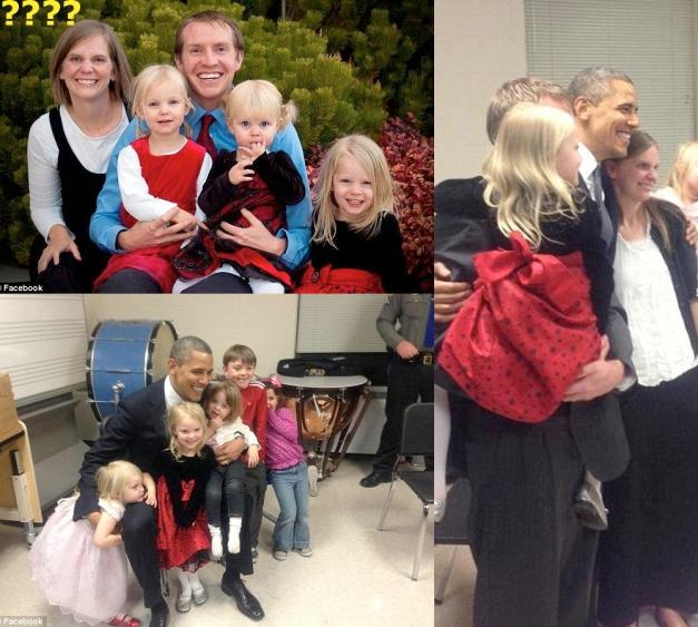 FAMILIA PARKER-Robbie Parker, padre de Emily Parker,6 AÑOS con Obama antes de la matanza