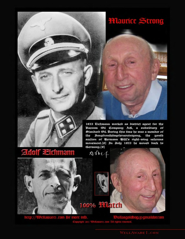 MAURICE STRONG ES ADOLF EICHMANN