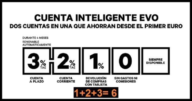CUBO BANCO EVO (ANUNCIO 1+2+3=6)