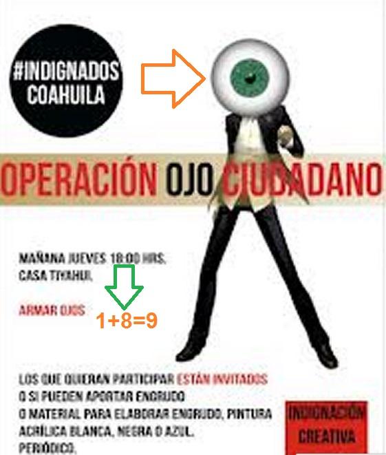 INDIGNADOS COAHUILA OJO Y 9