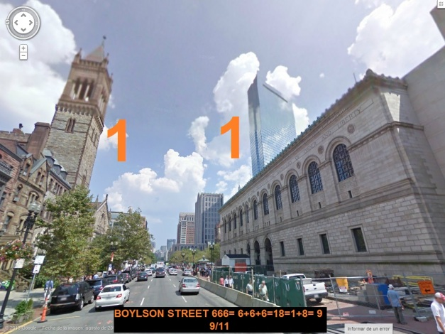 LINEA META CARRERA BOSTON 2 TORRES (11) CALLE 666 BOYLSTON STREET (01)