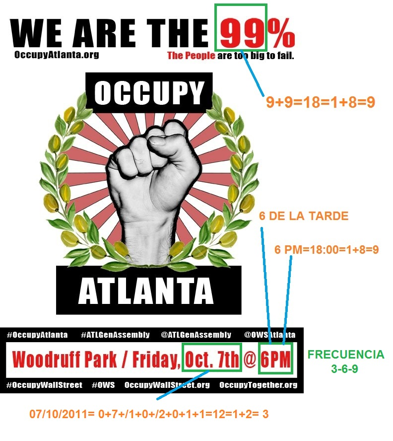 OCUPPY ATLANTA 9-11,3, 6 Y 9