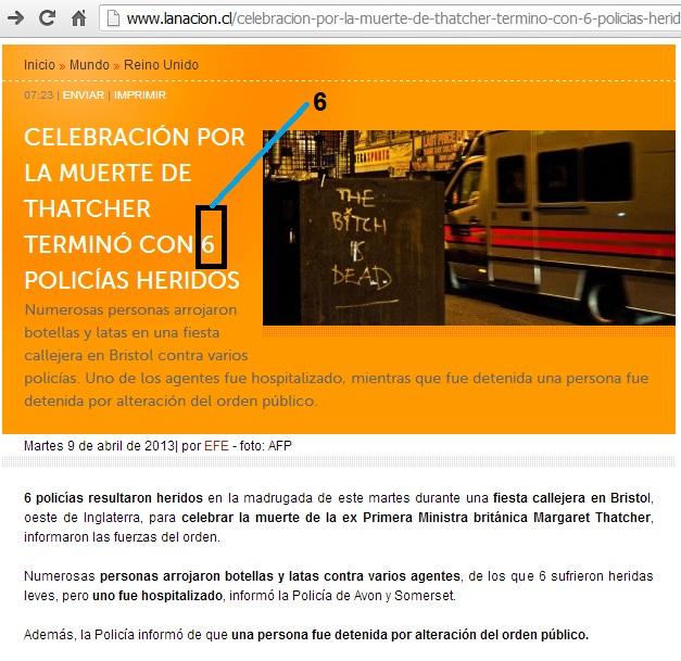 PATRON 3-6-9 NOTICIA LA NACION (CHILE) 01