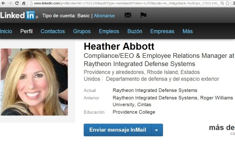 HEATHER ABBOT SISTEMAS DE DEFENSA INTEGRADOS RAYTHEON