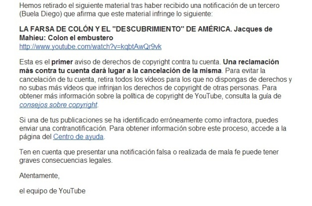 CENSURA YOUTUBE COLON