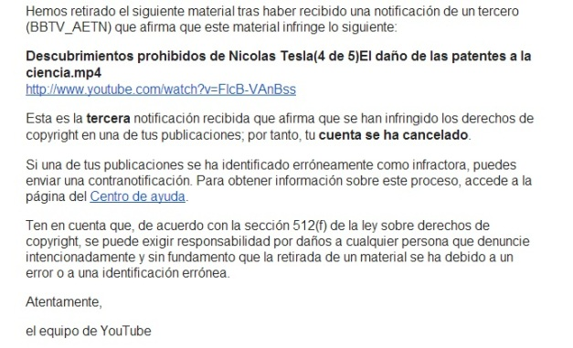 CENSURA YOUTUBE TESLA