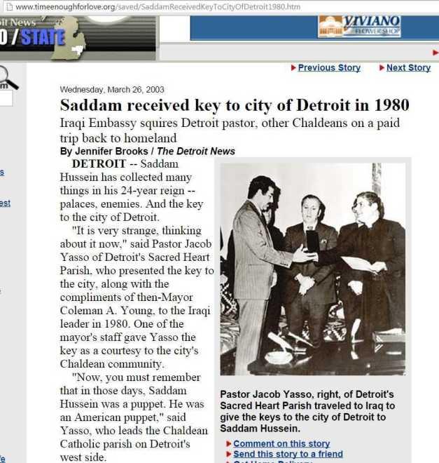 SADDAM HUSSEIN RECIBE LA LLAVE DE DETROIT 1980 (00) (FILEminimizer)
