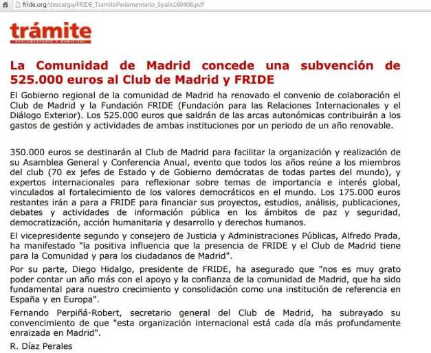 COMUNIDAD DE MADRID FINANCIA FRIDE Y CLUB DE MADRID (00) (FILEminimizer)