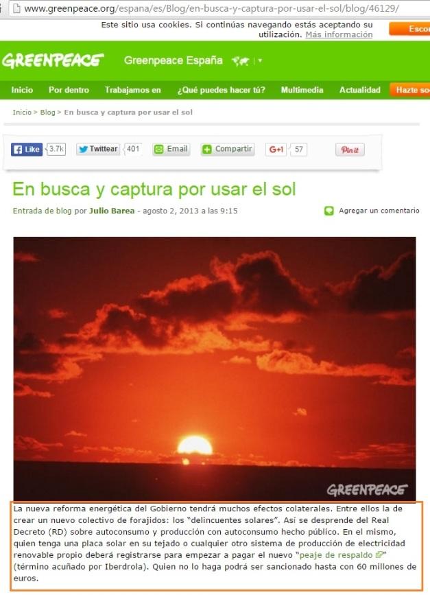 GREENPEACE DESINFORMANDO SOBRE EL PEAJE SOLAR (00)